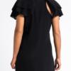 Ruffled silk-chiffon gown mini dress