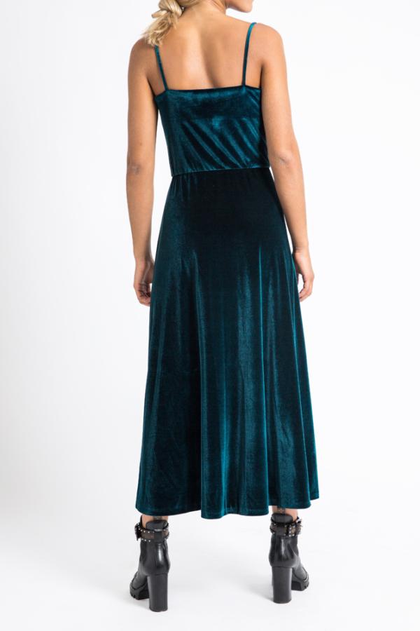 Velvet midi dress