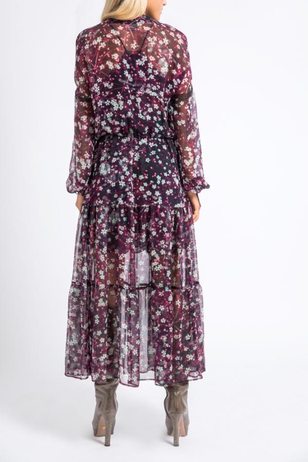 silk-georgette midi dress