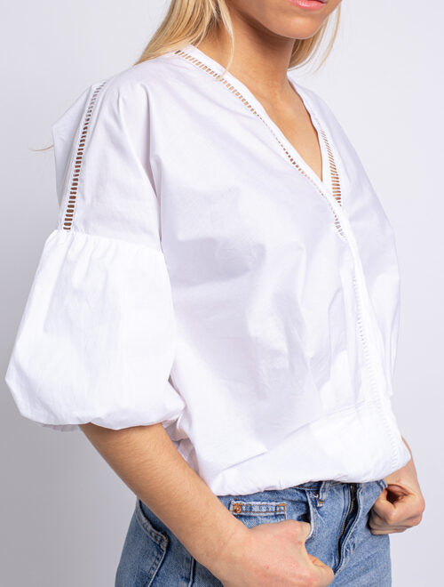 Crisp Cotton-poplin blouse