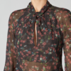 FLORAL GEORGETTE TWISTED FRONT BLOUSE