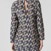 Geometric silk print mini dress